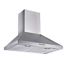 30-inch 320 CFM Wall-Mount Chimney Range Hood in Stainless Steel