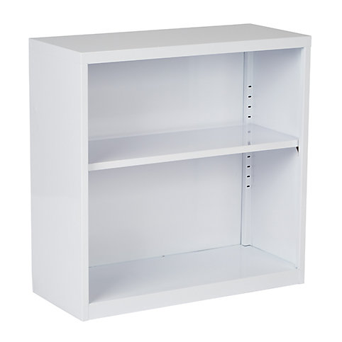 Office Star Products 28 Inch X 12 Metal Bookcase In White The Home Depot Canada