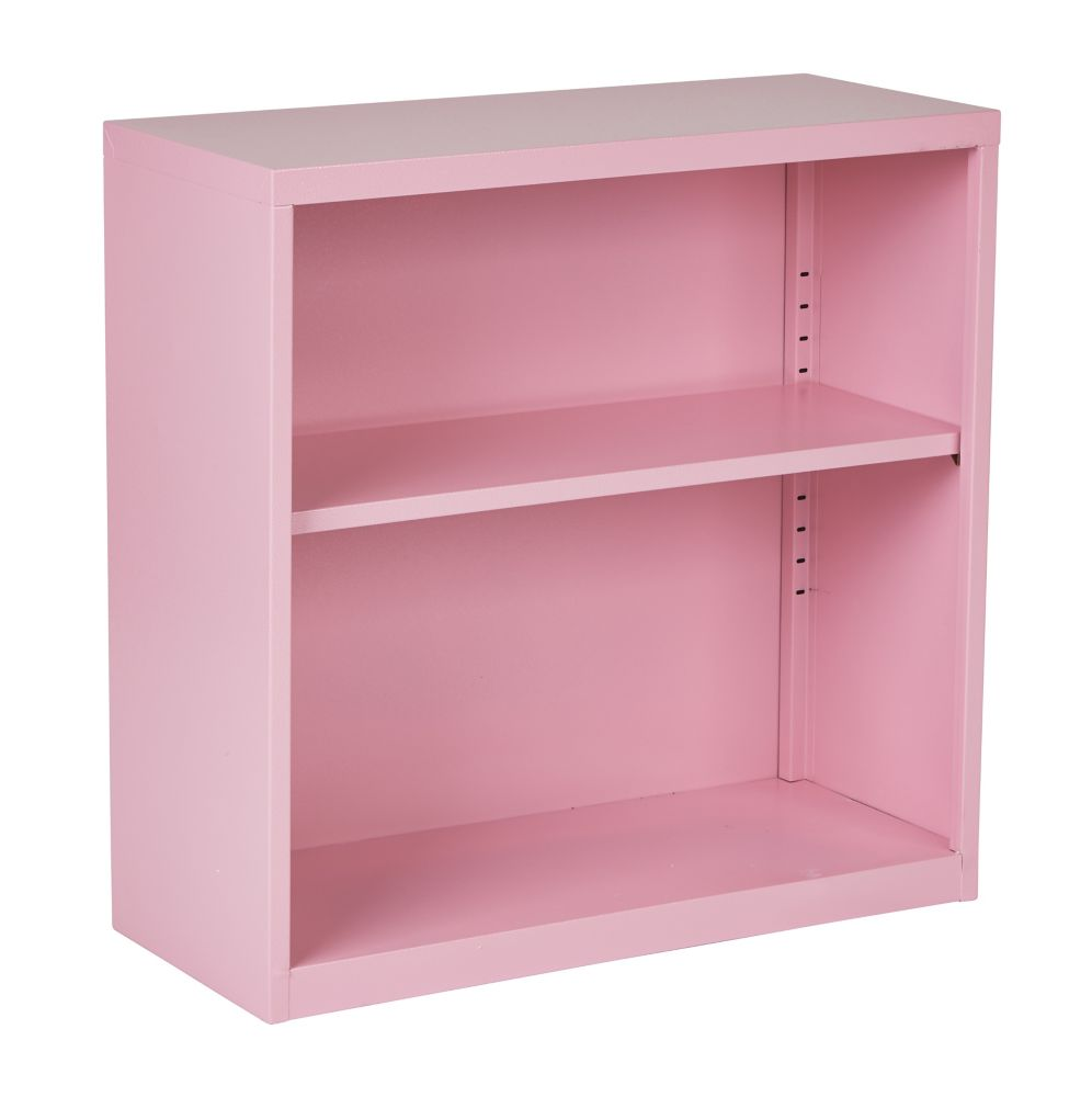 28 Inch  Metal Bookcase Pink