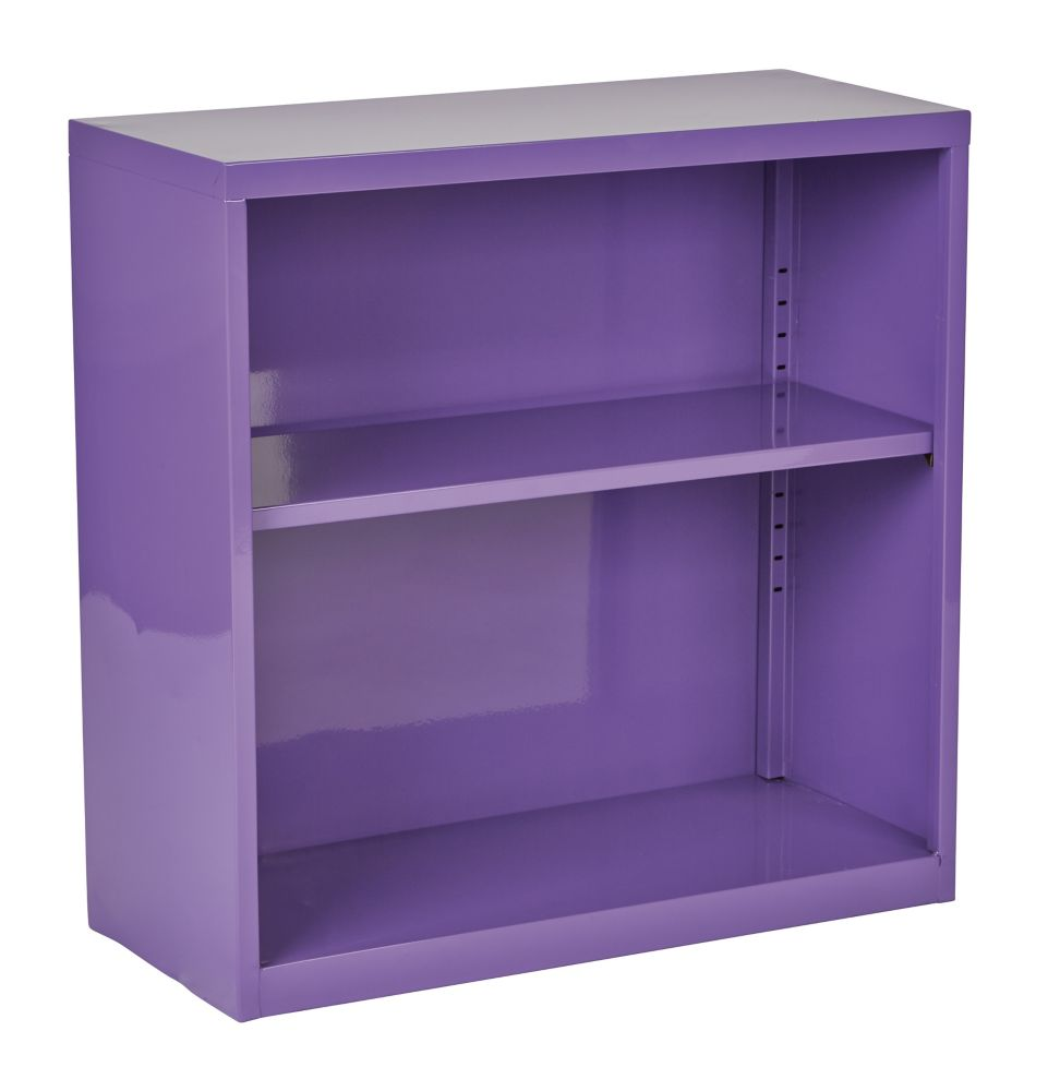 28-inch x 28-inch x 12-inch Metal Bookcase in Purple