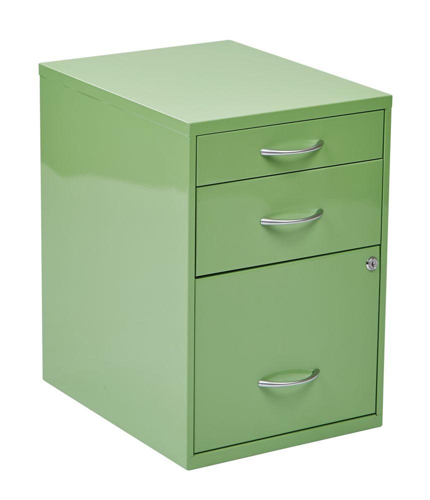 22 Inch Storage File Cabinet Green