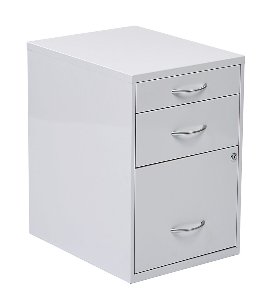 22 Inch Storage File Cabinet White