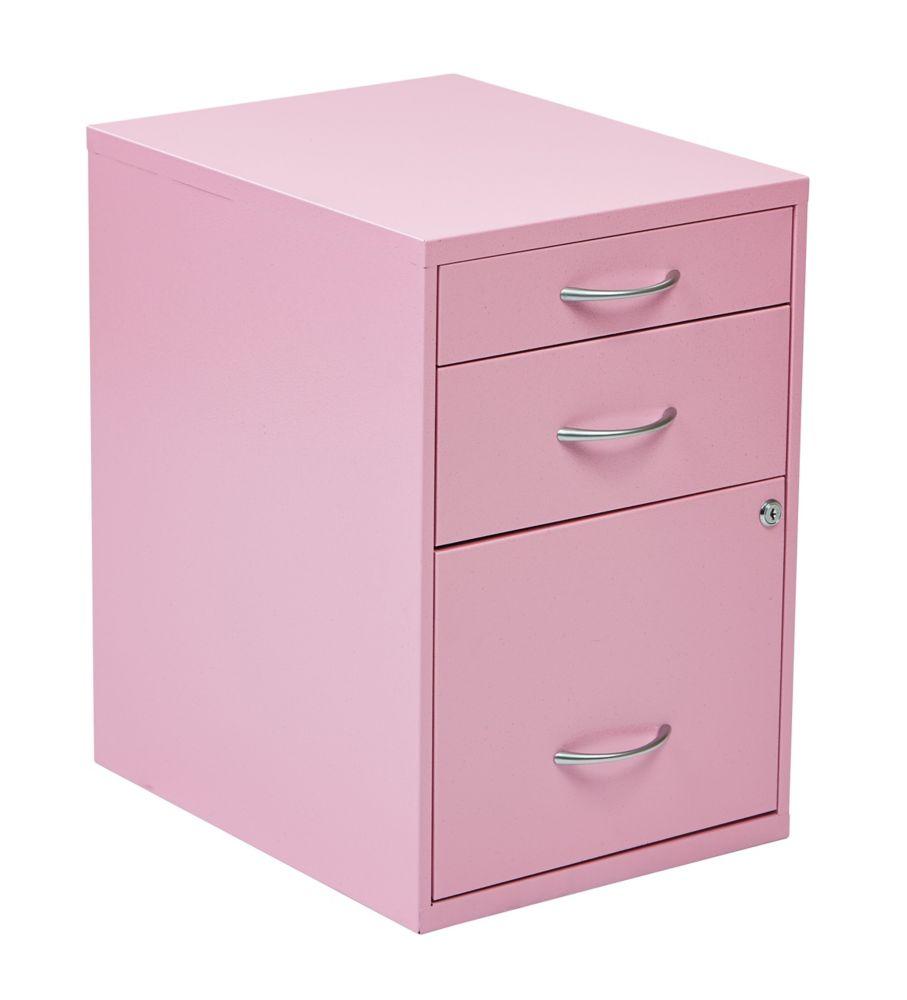 22 Inch  Storage File Cabinet Pink