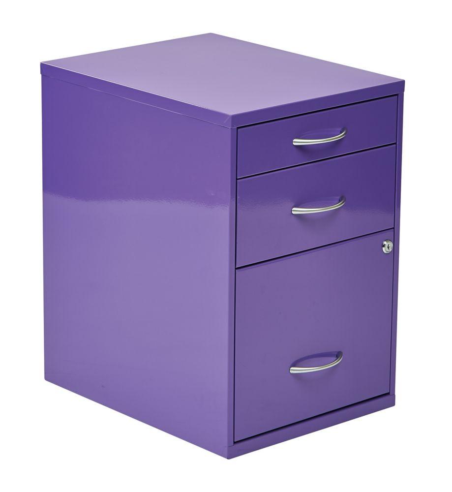 22 Inch  Storage File Cabinet Purple