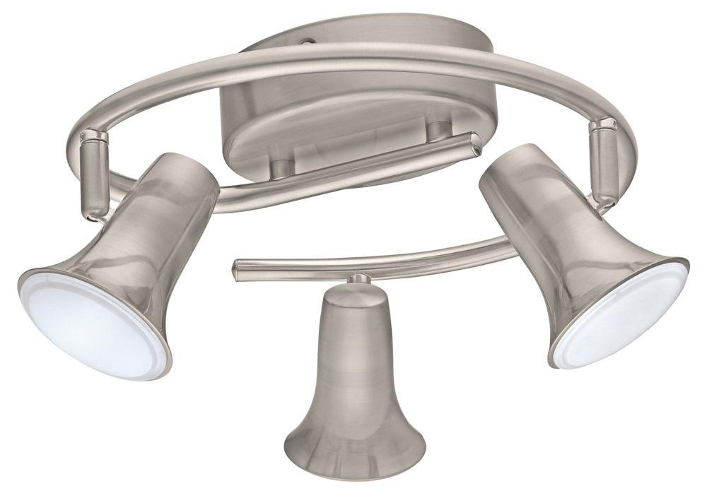 Jumilla LED Ceiling Light 3L, Matte Nickel Finish with Satin Acrylic Diffuser