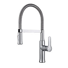 Nola Single-Lever Flex Commercial Style Kitchen Faucet in Chrome