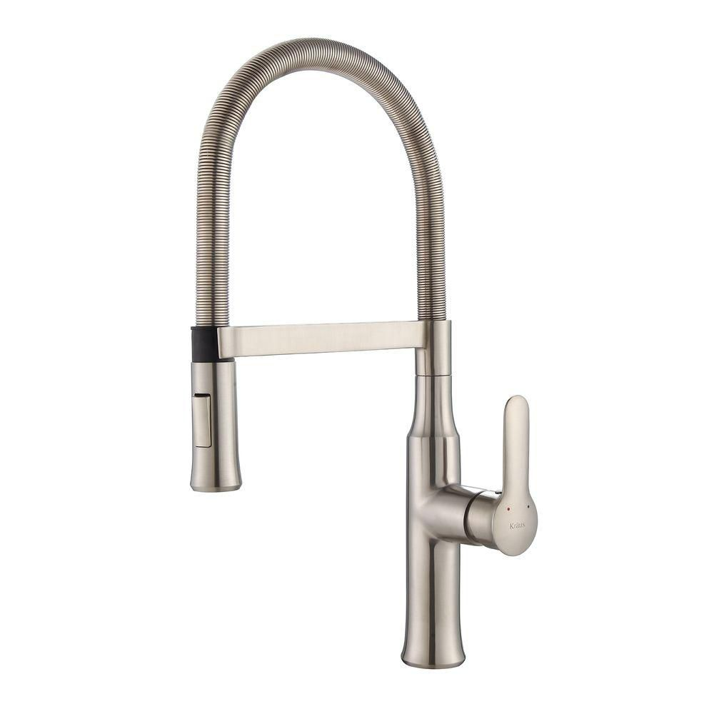 Nola Single-Lever Flex Commercial Style Kitchen Faucet in Stainless Steel