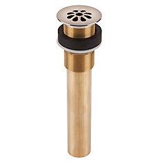 Decorative Brass 8-Hole Bath Grid Drain in Nickel