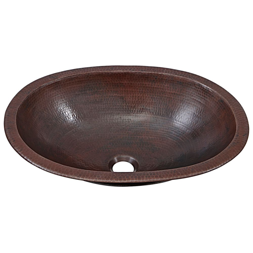 Wallace 19-inch Dual Mount Bathroom Sink in Aged Copper