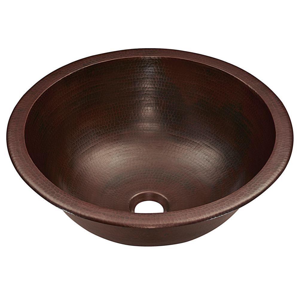 Darwin 15 1/2-inch Dual Mount Bathroom Sink in Aged Copper