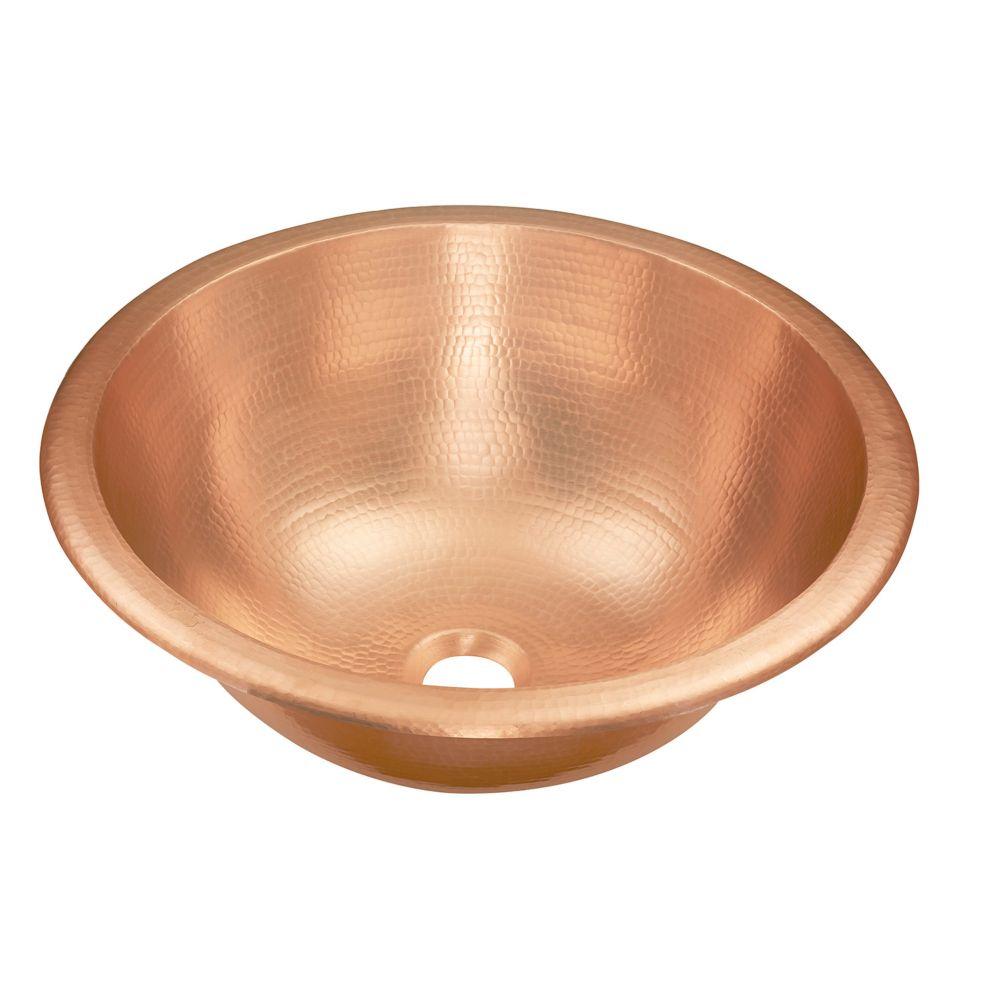 Sinkology Born 16-inch Dual Mount Bathroom Sink in Pure Solid Copper