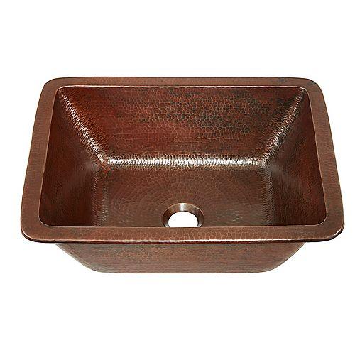 Sinkology Hawking 17-inch Dual Mount Bathroom Sink in Aged Copper