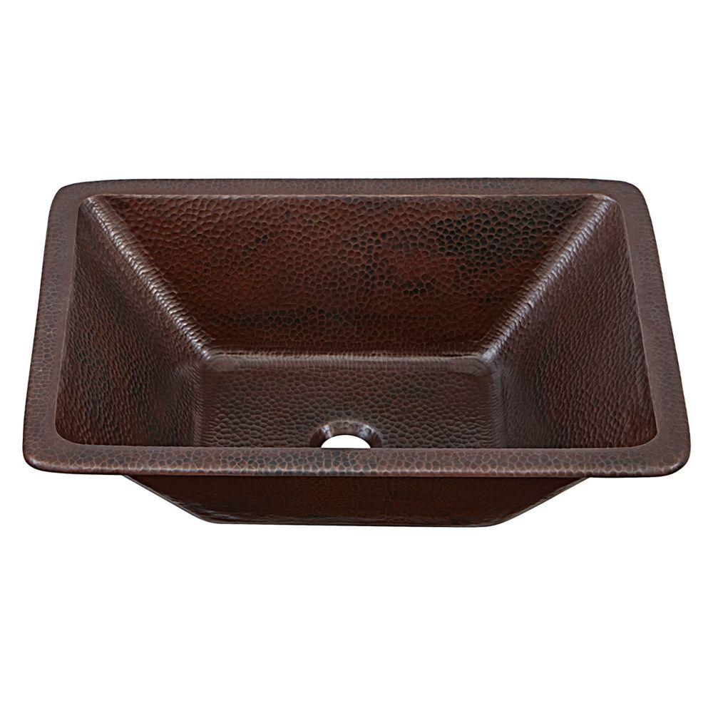 Hawking 20-inch Dual Mount Bathroom Sink in Aged Copper
