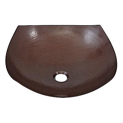 Lovelace 16 50 Inch X 5 Circular Copper Bathroom Sink With Drain In Bronze