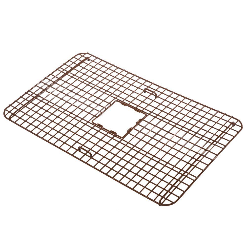 Wright Copper Kitchen Sink grille de fond tres resistant recouvertes de plastique brun antique
