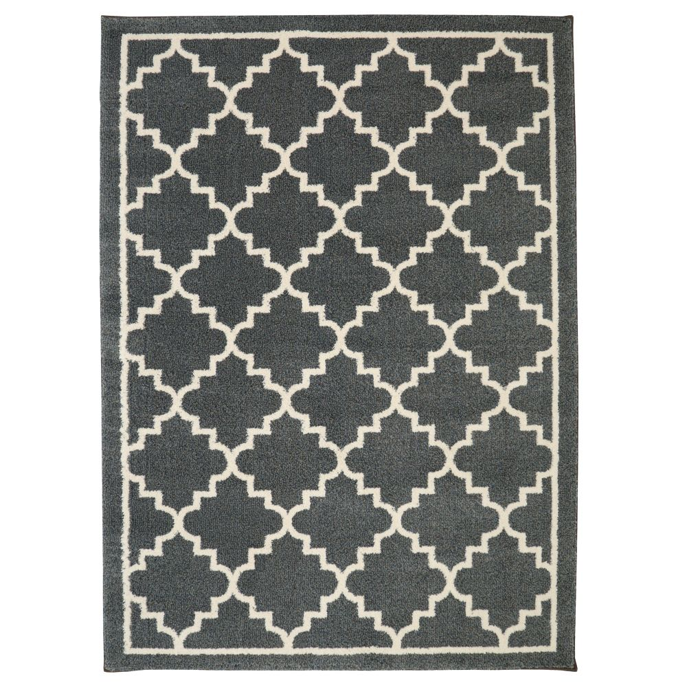 Home Decorators Collection Winslow Dark Slate 8 ft. x 10 ft. Area Rug