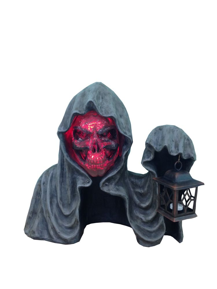 Lighted Screaming Ground Reaper Statue