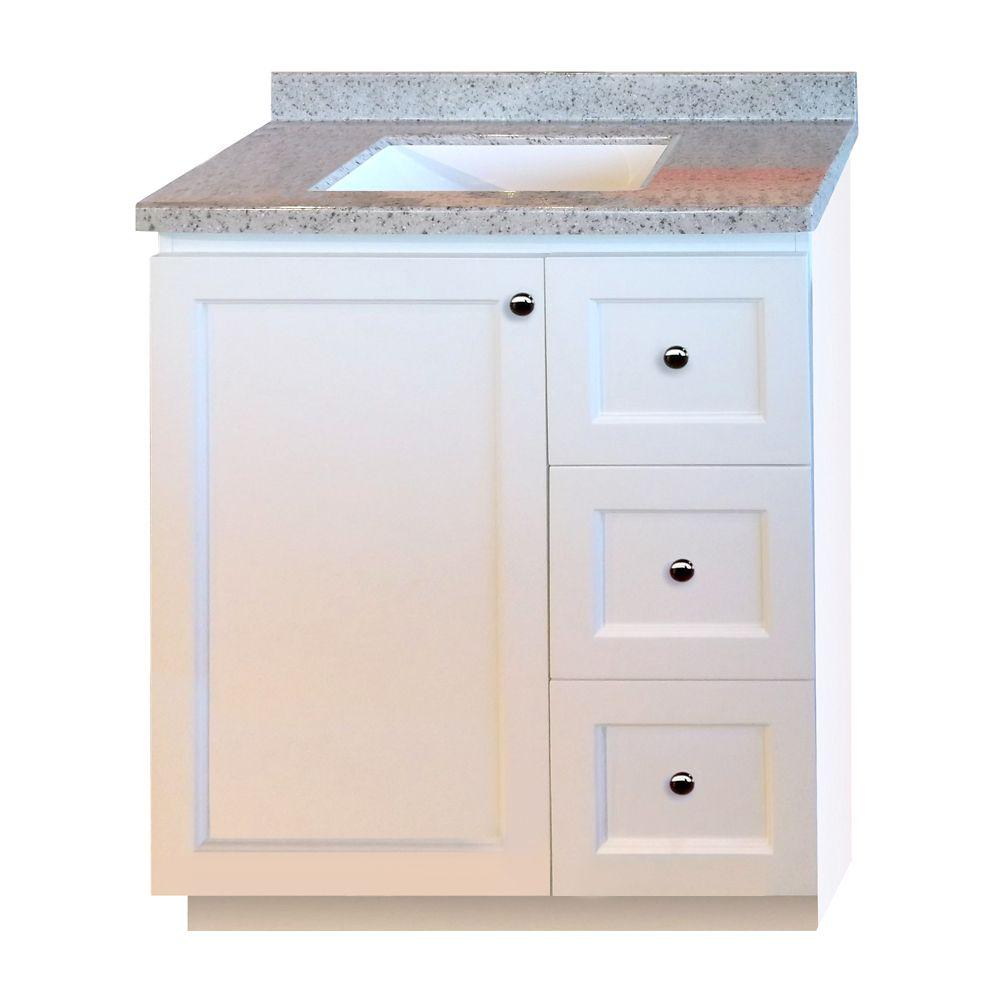 30-inch W Vanity in White