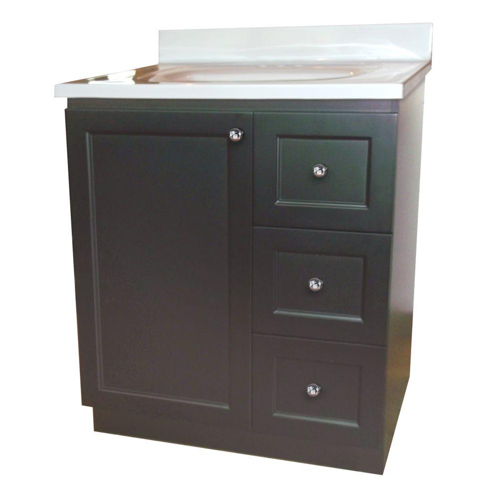 Base de meuble-lavabo Classic de 76,2 cm (30 po) larg. - chocolat noir