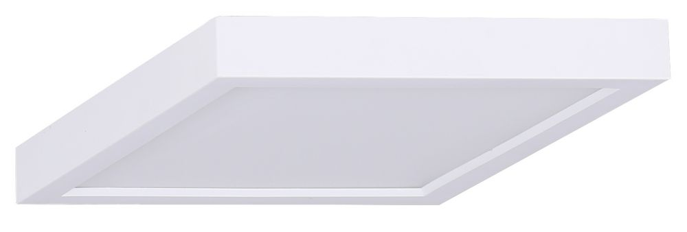 7-inch 1-Light 18W White LED Square Disk Flushmount Light - ENERGY STAR
