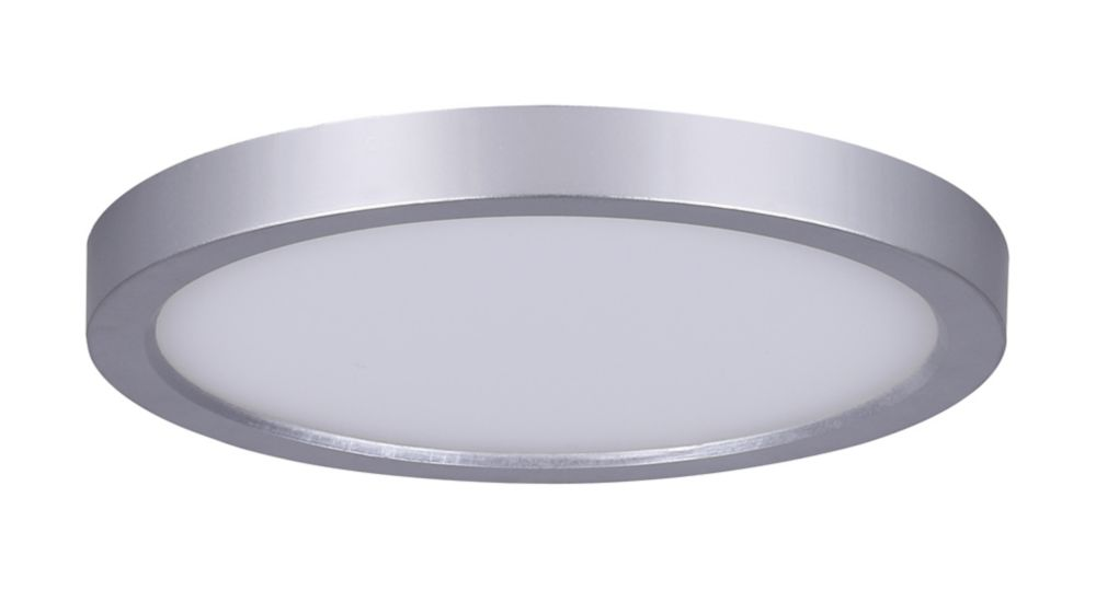 Flush mount ceiling lights the home depot canada 7 inch round led brushed nickel disk light aloadofball
