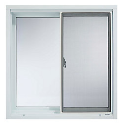SOLENSIS 47Inch X 23Inch Wood Clad Vinyl Sliding Window with 6 9/16Inch Frame - ENERGY STAR®