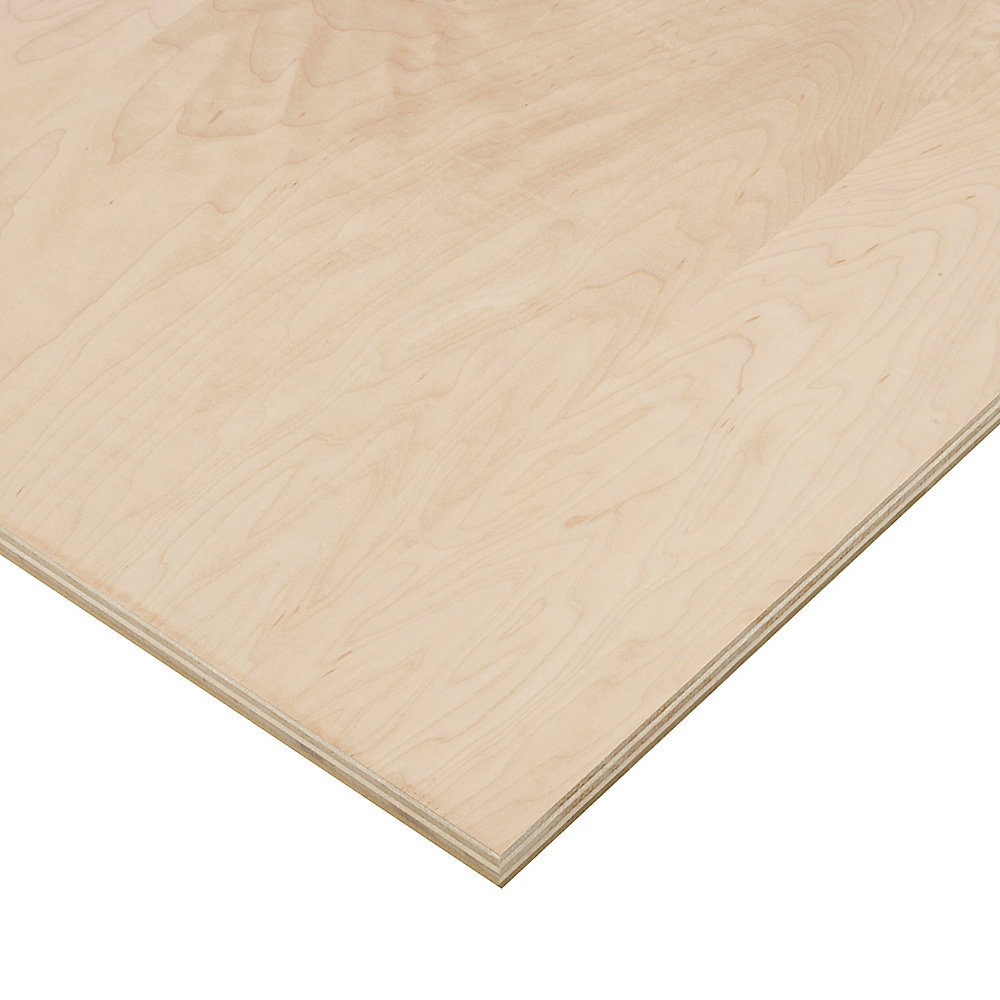 3/4 Inch x 4 Feet x 8 Feet Maple Plywood