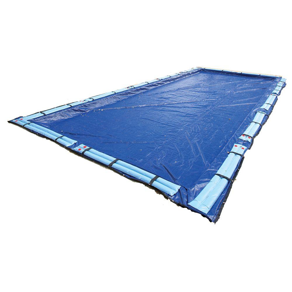 Couverture hivernale rectangulaire pour piscine creusée de 7,3 m x 12,2 m, garantie de 15 ans