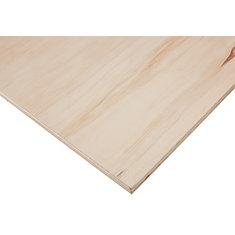 3/4 Inch x 4 Feet x 8 Feet Sanded Aspen Plywood