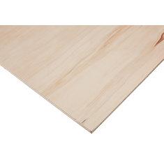1/2-inch x 4 Feet x 8 Feet Sanded Aspen Plywood