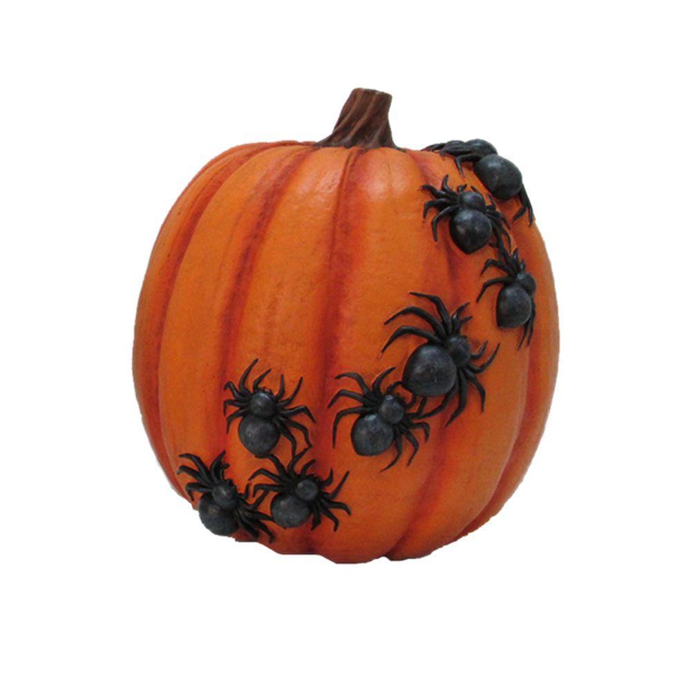 Orange Pumpkin With Spider