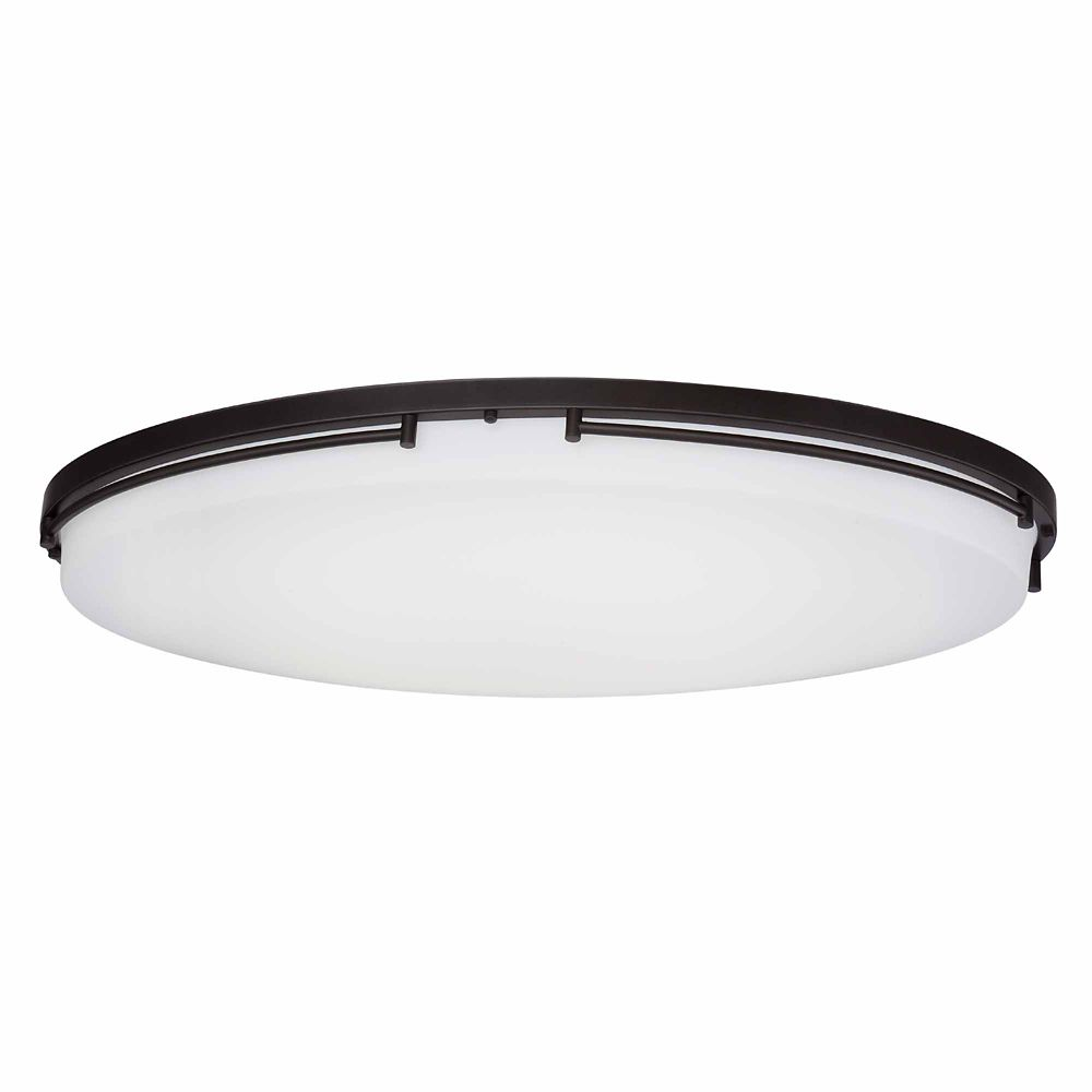 32 Inch LED Flushmount, Low Profile Oil Rubbed Bronze