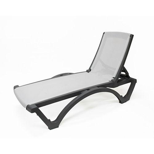 Gracious Living Resin Sling Lounge, Grey