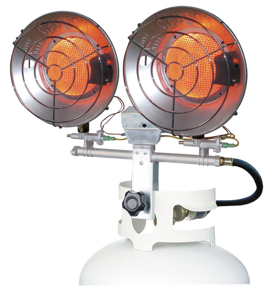 32,000 BTU Dual LP Tank Top Heater