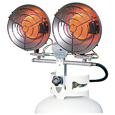 32,000 BTU  Dual LP Tank Top Heater