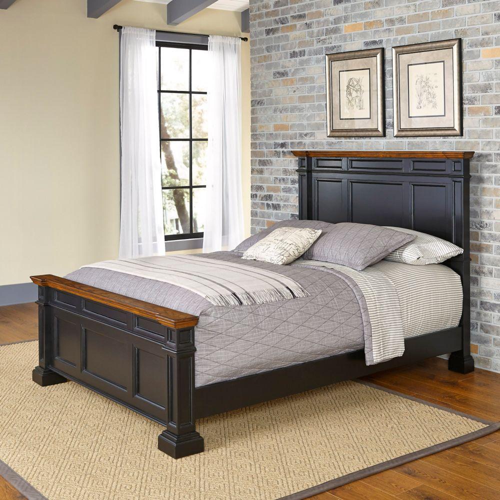 Americana Black Queen Bed
