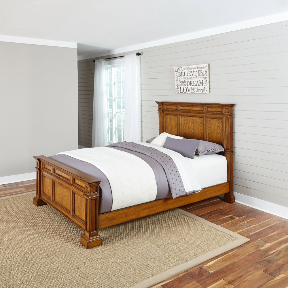 Home Styles Americana Cottage Oak Queen Bed