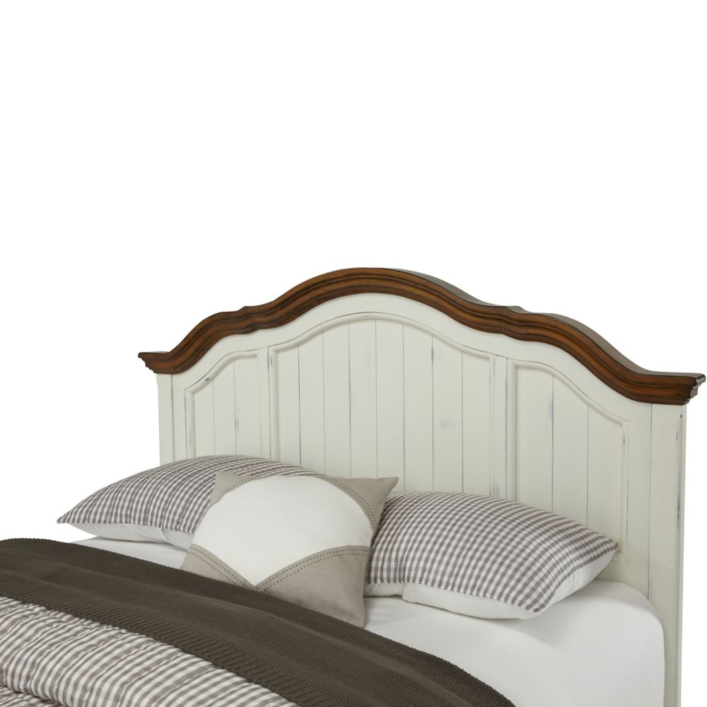Home Styles The French Countryside Oak and Rubbed White Full/Queen Headboard