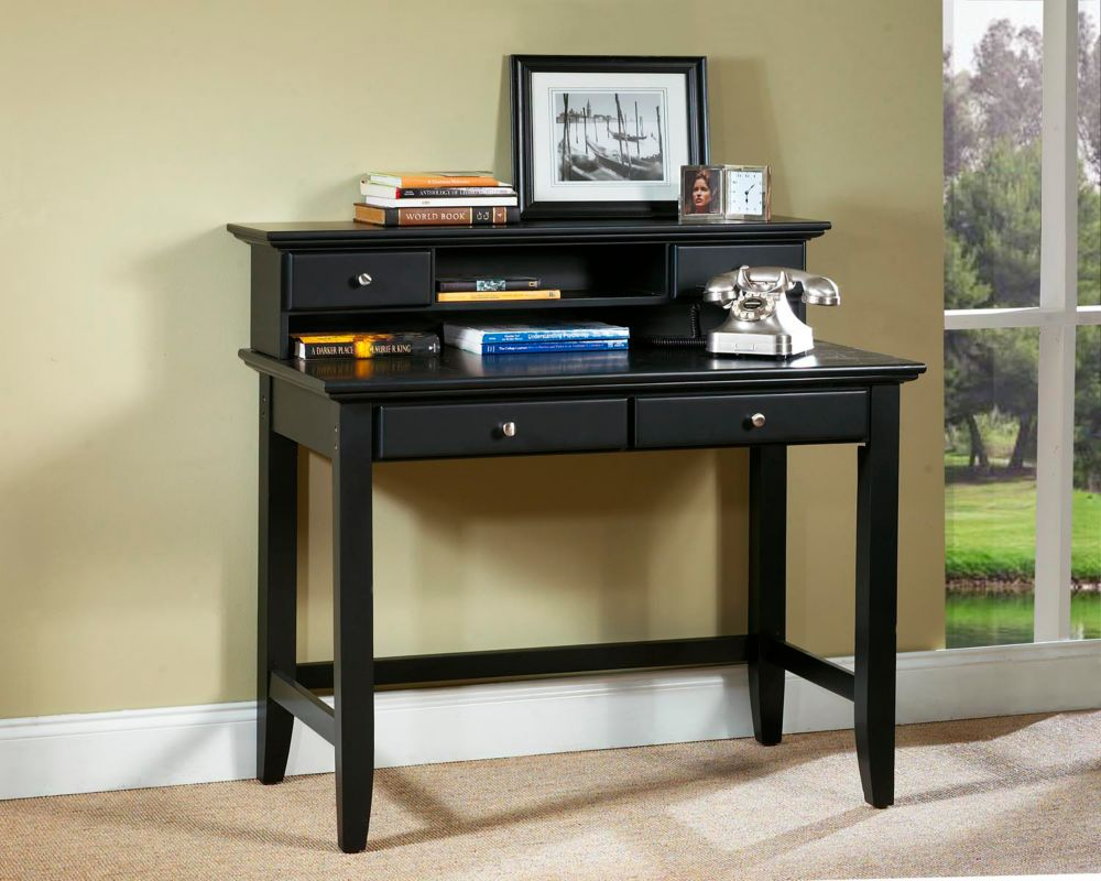 Bedford Black Student Desk and Hutch