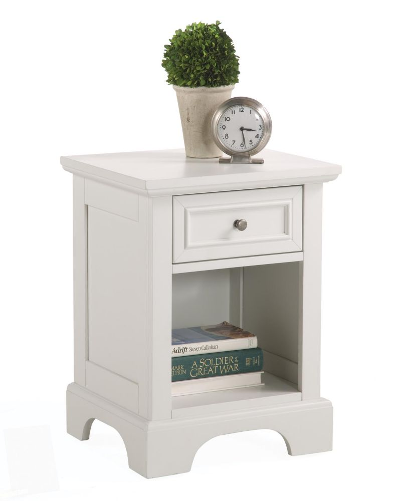 18-inch x 24-inch x 16-inch 1-Drawer Nightstand in White