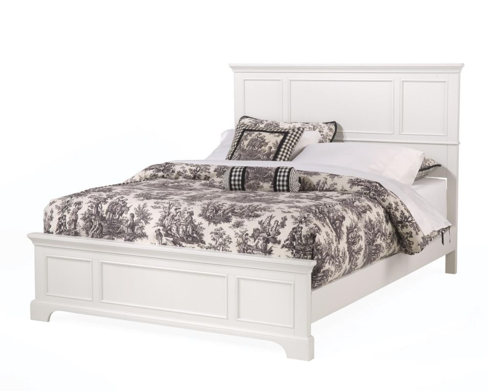 Naples White Queen Bed