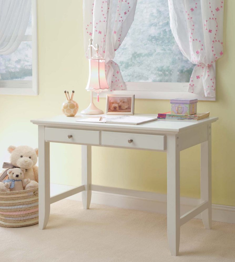 Home Styles Naples 42-inch x 30-inch x 24-inch Standard Writing Desk in White
