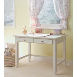 Home Styles Bureau de travail standard Naples, 42po x 30po x 24po, blanc