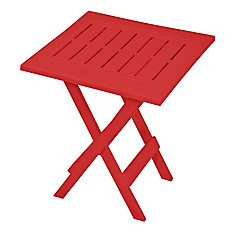 table d'appoint pliante, rouge
