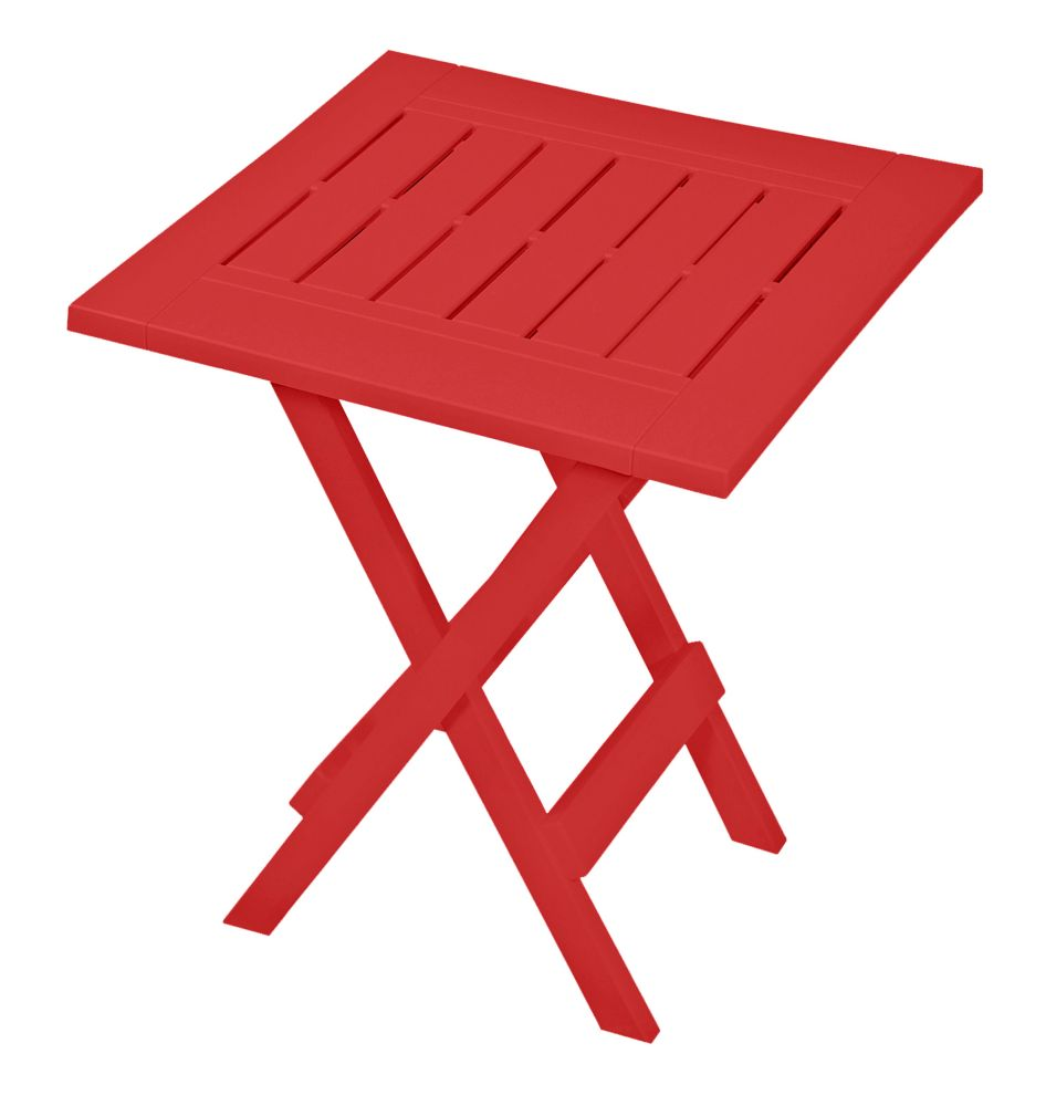 Gracious Living Folding Patio Side Table in Red