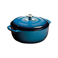 Lodge Colour Enamel Dutch Oven Blue 7.5 Quart