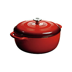 Lodge Colour Enamel Dutch Oven Red 7.5 Quart