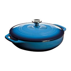 Lodge Colour Enamel Casserole Blue 3.6 Quart