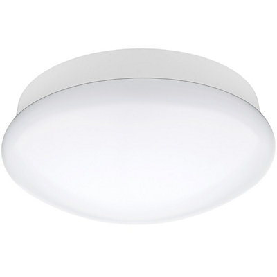 Commercial electric 11 inch integrated led flushmount ceiling light commercial electric 11 inch integrated led flushmount ceiling light fixture in bright white the home depot canada mozeypictures Gallery