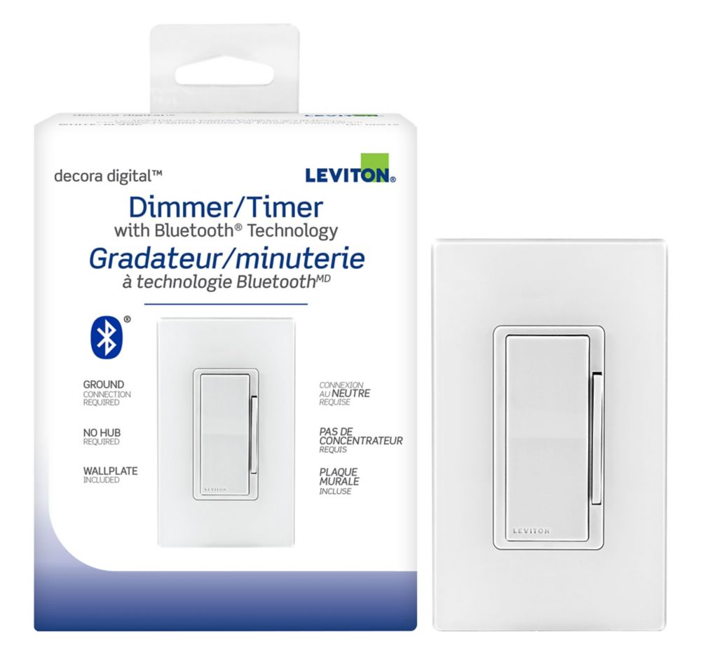 Leviton - Decora Universal dimmer/timer with Bluetooth technology